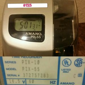 AMANO PIX-55 TIME CLOCK for Sale in Houston, TX