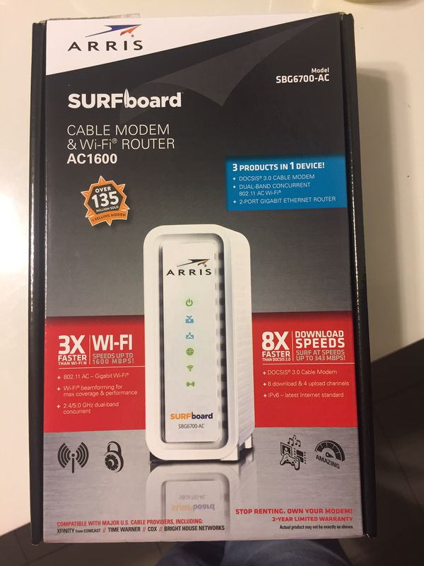 Arris router with modem