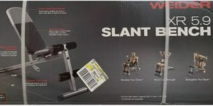 Weider weight bench slant 410 lbs cap for Sale in Oakland, CA