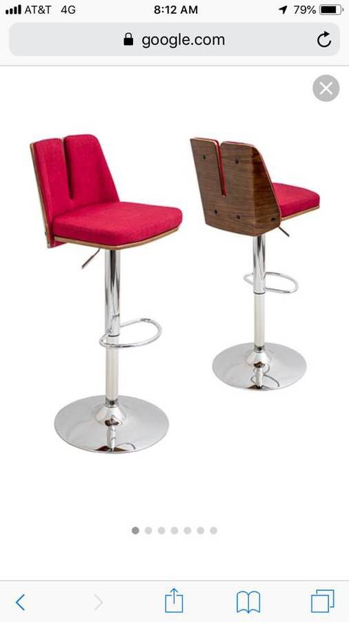Valgo Red Adjustable Stools (Set of 2)