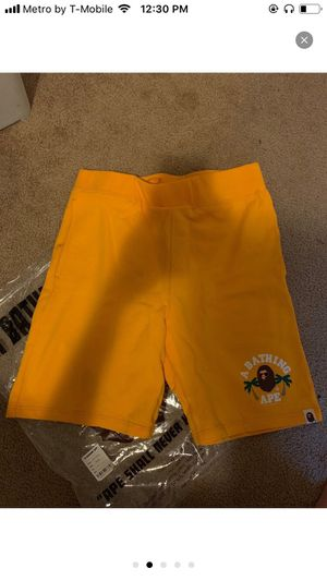 Bape Shorts L Yellow for Sale in Santa Ana, CA