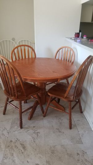 Wood kitchen table with 4 chairs for Sale in Garden Grove, CA