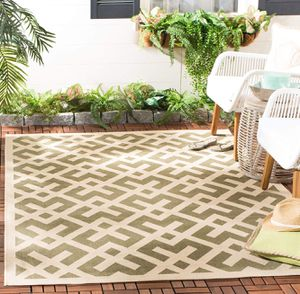 Safavieh Courtyard Collection Green and Bone Indoor/ Outdoor Area Rug (9' x 12') BRAND NEW for Sale in Glendale, AZ