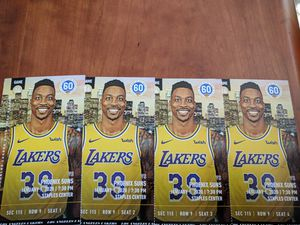 4 tickets Lakers vs. Suns Section 115, Row 9 for Sale in Los Angeles, CA