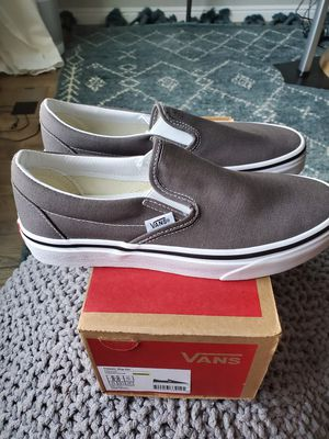 VANS CLASSIC SLIP ON SHOES - CHARCOAL Size 6.5 mens, 8 womens, BRAND NEW IN BOX for Sale in South Jordan, UT