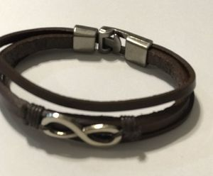 Stainless steel and genuine leather bracelet for Sale in Orlando, FL