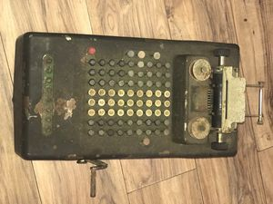 Vintage Victor Cash Register with Crank All Original #166629 on Bottom for Sale in Dallas, TX