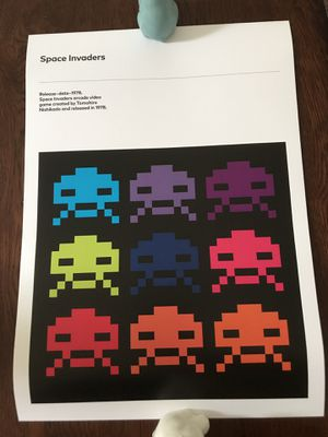 Space invaders arcade game print for Sale in Monroe, WA