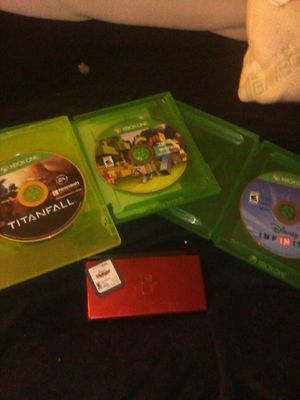 Nintendo DS w kingdom hearts and 3 Xbox one games for Sale in Akron, OH