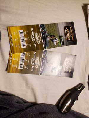 Nascar tickets with pre race passes included. for Sale in Wichita, KS