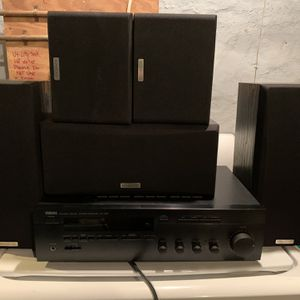 Yamaha RX-385 Receiver with Kenwood KS-201 HT speakers - sound system for Sale in Philadelphia, PA
