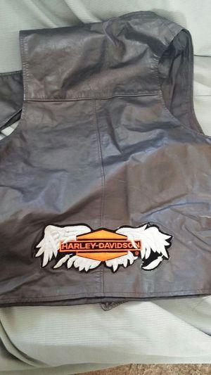 Harley Davidson leather vest for Sale in Glen Burnie, MD