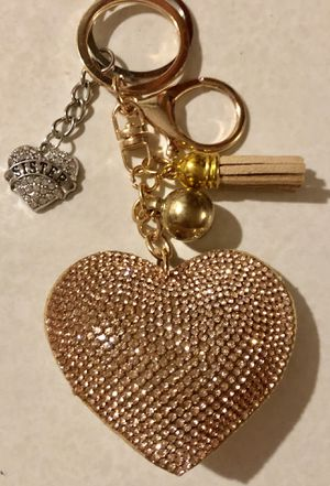 MOTHER NEICE SISTER GRANDMA NURSE AUNT CRYSTAL HEART PURSE BACKPACK TAG KEYCHAIN for Sale in Macomb, MI