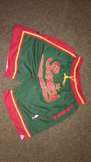 NBA Retro Just-Don Seattle Super Sonics Shorts for Sale in Fontana, CA