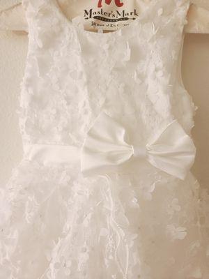 Girls size 8 flower girl mini bride dress for Sale in Greenville, SC