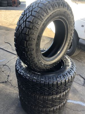 255/75R17 GoodYear All terrain tires (4 for $340) for Sale in Whittier, CA