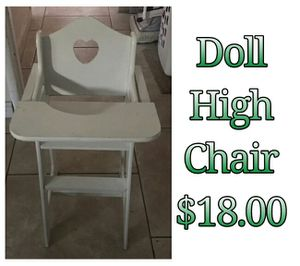 Doll high chair for Sale in Hacienda Heights, CA