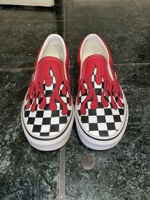 Vans Slip on Red Checkered Flame for Sale in Phoenix, AZ