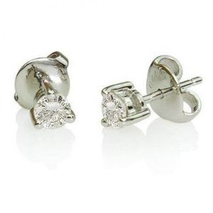 0.70 Ct Prong Set Solitaire Round Diamond Stud Earring for Sale in New York, NY