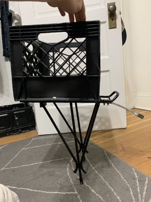 Bike rack and milk crate for Sale in Portland, OR