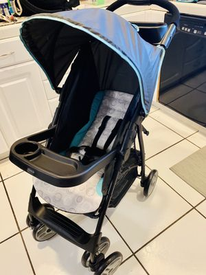 New - Graco® LiteRider® LX Lightweight Stroller in Tenley™ - w/ Removable child's tray & Compatible with all Graco Click Connect infant car seats 👌 for Sale in Boynton Beach, FL