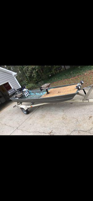 jon boat with trailer for Sale in Cumming, GA
