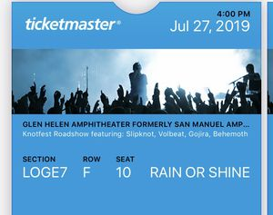 Slipknot tickets July 27 for Sale in Buena Park, CA