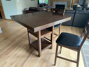 Kitchen table set. Gathering table and 4 chairs. Table top could use a refinish. for Sale in Buckley, WA