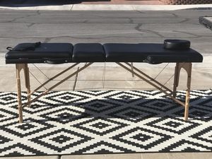 BEAUTIFUL NICE DESIGN BRAND NEW NEVER BEEN USED BLACK COLOR PORTABLE MASSAGE TABLE BY SIERRA COMFORT.. for Sale in Las Vegas, NV