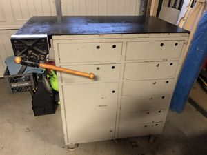 Steel Work Bench with Large Cleveland Vice - 42w x 22d x 42t for Sale in Rancho Cordova, CA