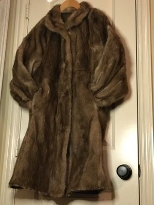 Best of both worlds reversible mink and leather car coat for Sale in Dallas, TX