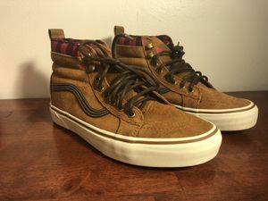 NEW VANS SK8-HI MTE ALL WEATHER GLAZED GINGER BROWN SKATE SHOE MEN SZ 8 for Sale in West Hartford, CT