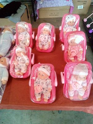 $8 each located in Palmdale California mini baby dolls car seat pacifier included for Sale in Palmdale, CA