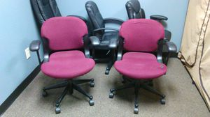Burgundy office chairs set of 2 for Sale in Columbus, OH