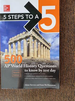 5 Steps To A 5 AP World History 500 Practice Questions for Sale in Winter Garden,  FL