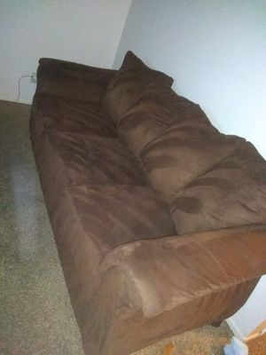 Chocolate couch for Sale in Wichita, KS