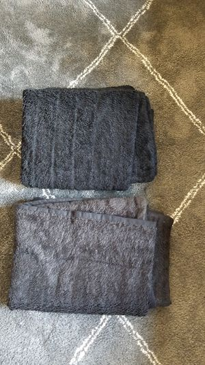 2 reversible faux fur throw blankets ,prices for both, black color for Sale in Everett, WA