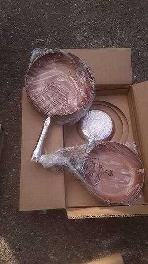 Copper fry pan set for Sale in Ypsilanti, MI