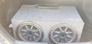 2 12' subwoofers with box and wiring included for Sale in Cypress Gardens, FL