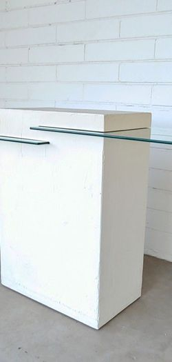 Post Modern Suspended Glass Entry Table Console for Sale in Phoenix,  AZ