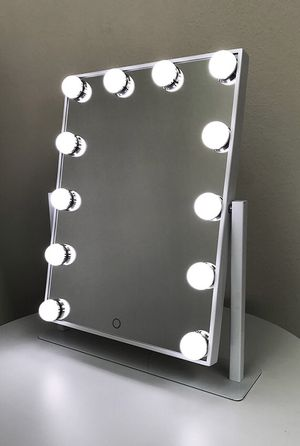"(NEW) $70 each Vanity Mirror 12 Dimmable Light Bulbs Hollywood Beauty Makeup, 16""x12"" for Sale in Whittier, CA"