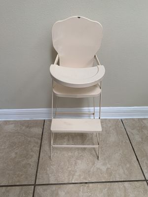 Land of Nod Metal Doll High Chair for Sale in Port St. Lucie, FL