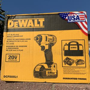 Dewalt 20 V Max Impact Gun With 1 3ah Battery And Charger With Carrying Bag New for Sale in Lynwood, CA