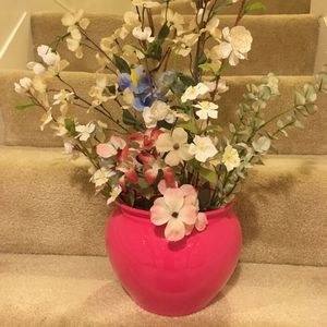 Flower arrangement with vase for Sale in Columbia, MD