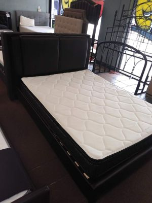 Queen size platform bed frame with Pillow Top Mattress included for Sale in Glendale, AZ