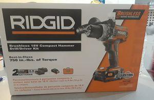 18v compact hammer drill kit ridgid for Sale in Miami, FL