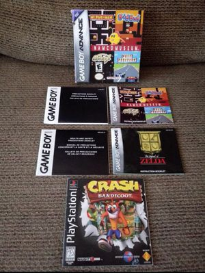 Gameboy game manuals for Sale in San Antonio, TX