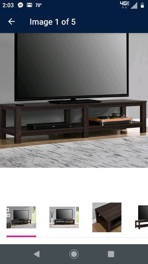 Espresso TV Stand holds up to 70 inch for Sale in Virginia Beach, VA