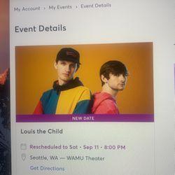 Louis The Child WAMU 09/11/20201 for Sale in Buckley,  WA