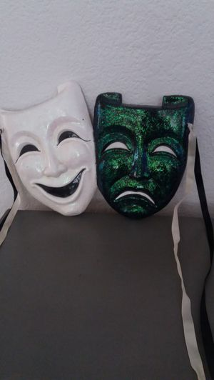 Smile now Cry later , ceramic masks for Sale in Rancho Cucamonga, CA